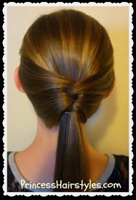 Woven ponytail hair tutorial. So easy!