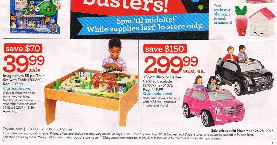 Toys R Us Black Friday Sale Ad 2015 Deals Discounts