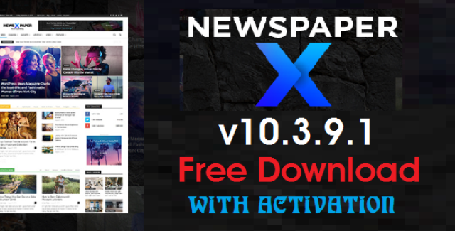 Newspaper v10.3.9.1 Wordpress Theme With Activation Free Download (Latest Version)