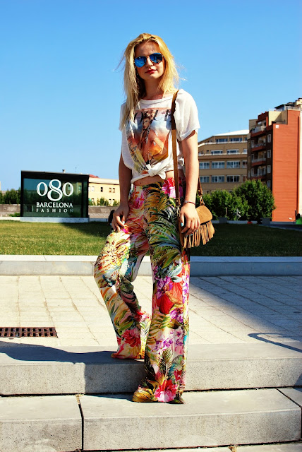 Ray-Ban, russian fashion blogger, fashion, Irina Pavlova, Barcelona street style, 080 Barcelona, summer pants, look