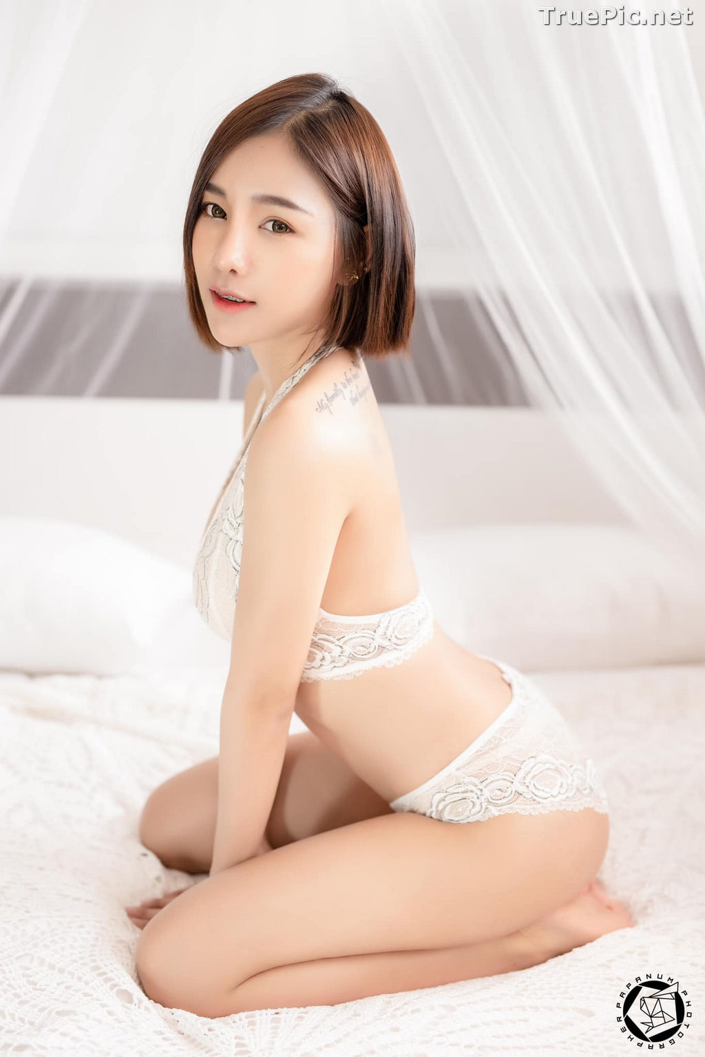 Image Thailand Model - Papoy Kuanpradit - Sexy White Lingerie - TruePic.net - Picture-2