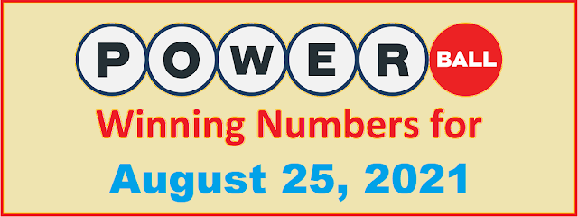 PowerBall Winning Numbers for Wednesday, August 25, 2021