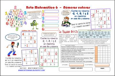 Retos Matemáticos, Desafíos matemáticos, Problemas matemáticos, Buscapalabras, Descubre la Palabra, Sudoku con Puntas, Sudoku, Variantes del Sudoku, La palabra Oculta