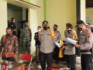 Kapolres Jepara Laksanakan Pengecekan Posko PPKM Mikro di Kecamatan Tahunan