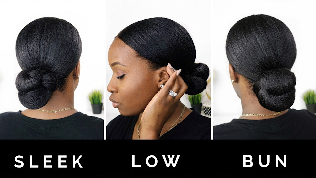 Sleek Low Bun - Protective Style | HairliciousInc.com