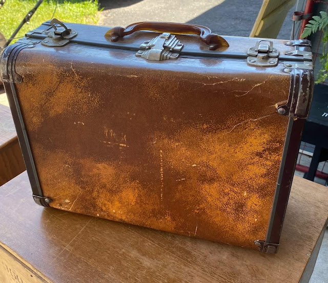 Photo of a small vintage suitcase