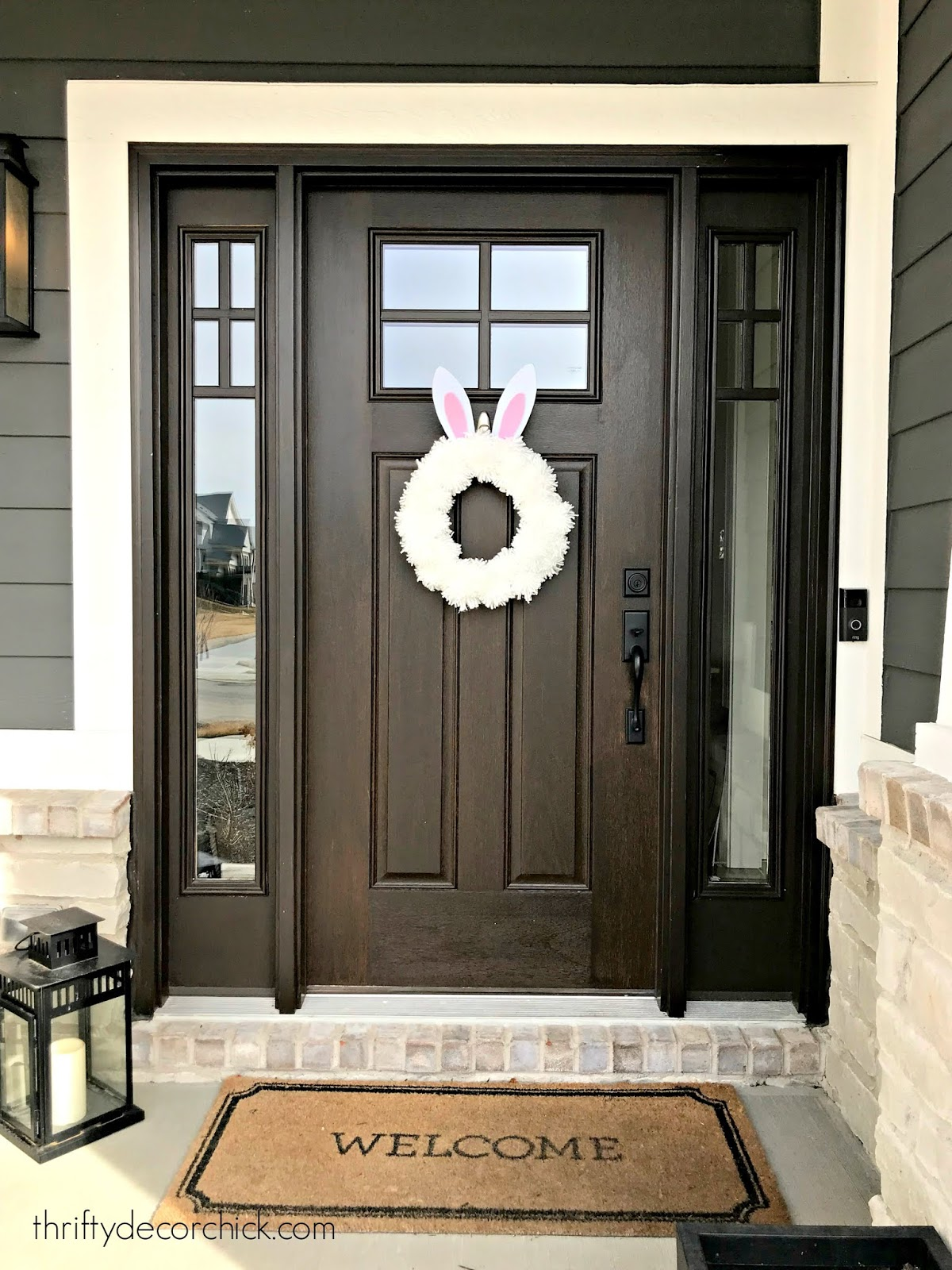 DIY bunny Easter wreath