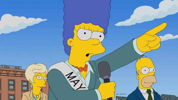 The Simpsons - Episode 29.06 - The Old Blue Mayor She Ain't What She Used To Be - Promotional Photos & Press Release