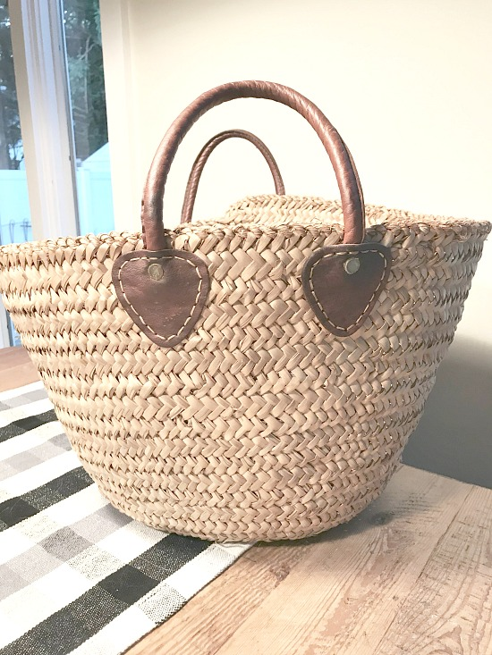 Wicker Market Basket makeover