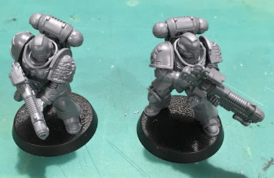 Deathwatch Primaris Hellblasters with assault plasma front