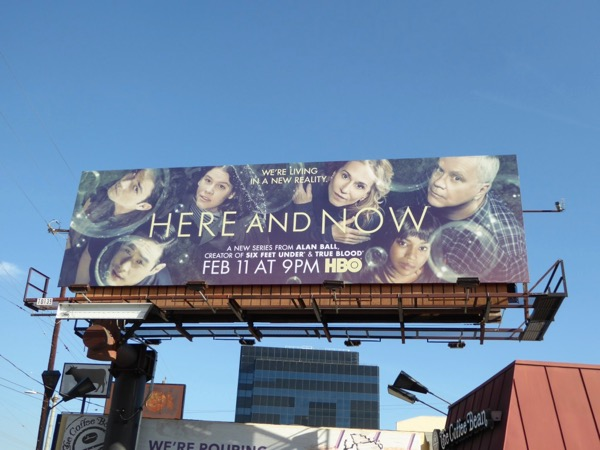 Here and Now series launch billboard