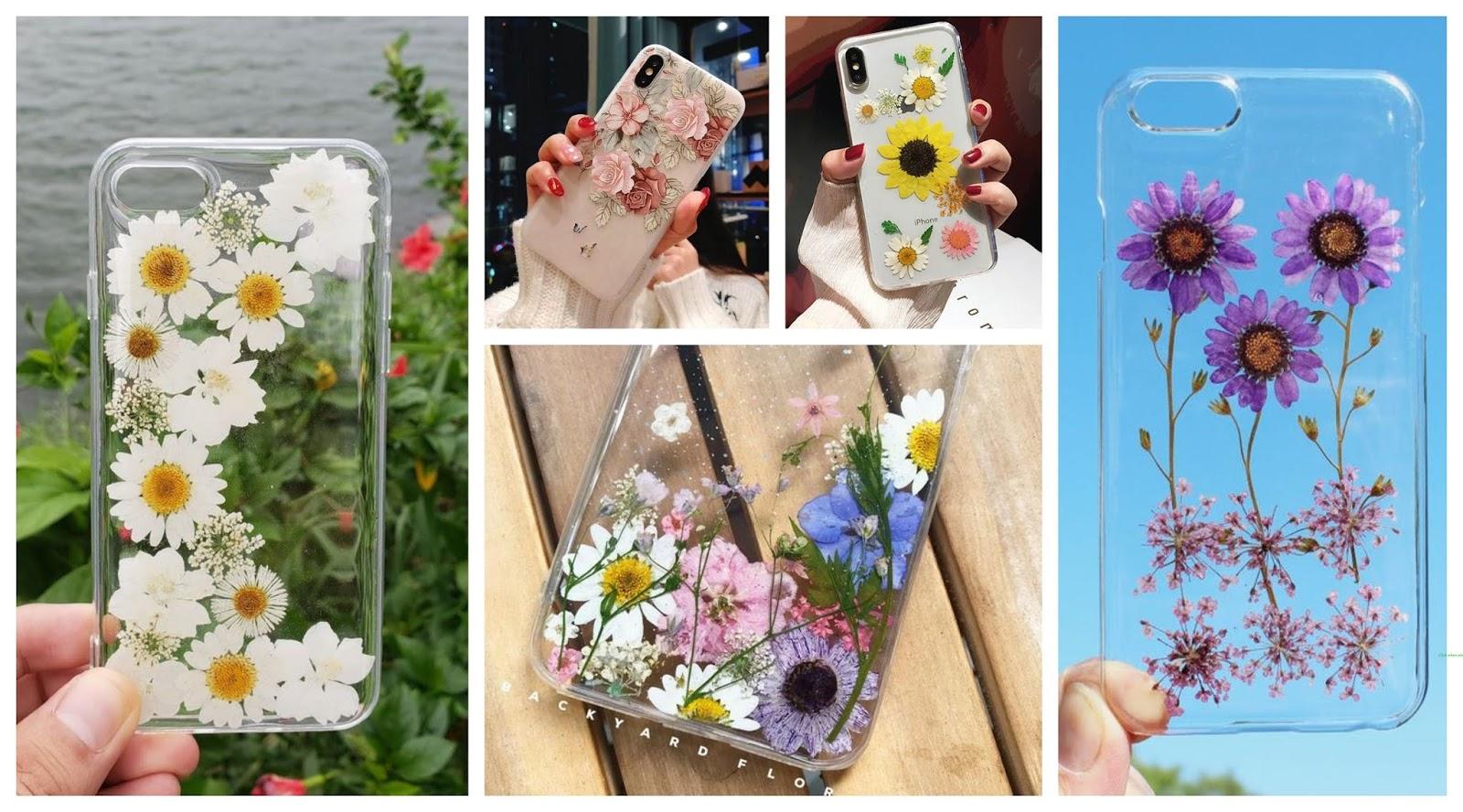 Aprende cómo decorar fundas de celular con flores y esmalte de uñas ~  cositasconmesh