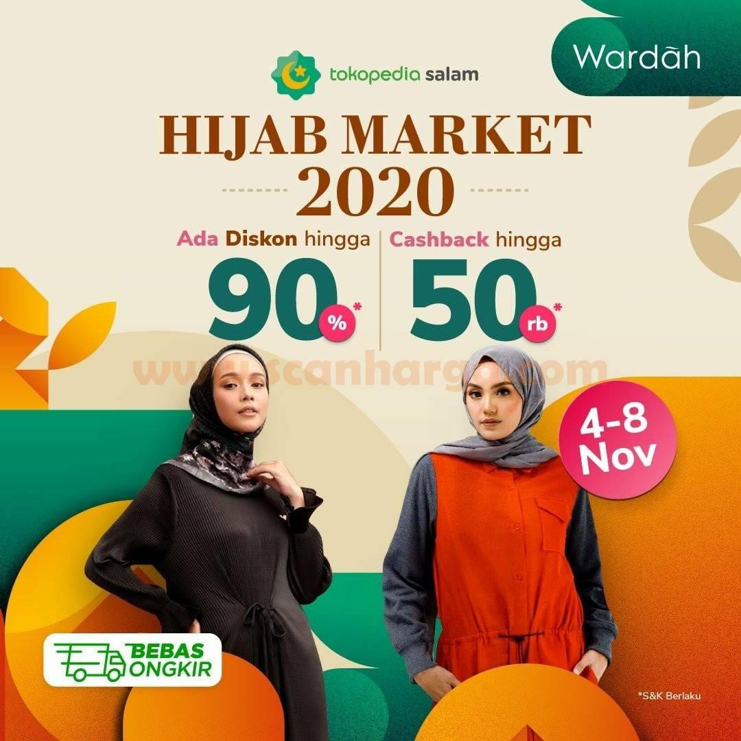 Promo Hijab Market 2020 - Ada Diskon 90% + Cashback 50Rb only on Tokopedia Salam