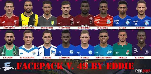 PES 2017 Facepack 49 by Eddie Facemaker