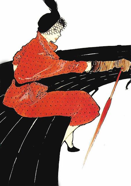 A fashion illustration by René Gruau