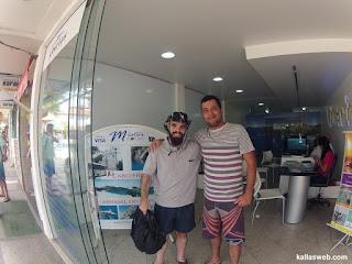 Um turista de Brasília/DF me reconheceu em Búzios/RJ.