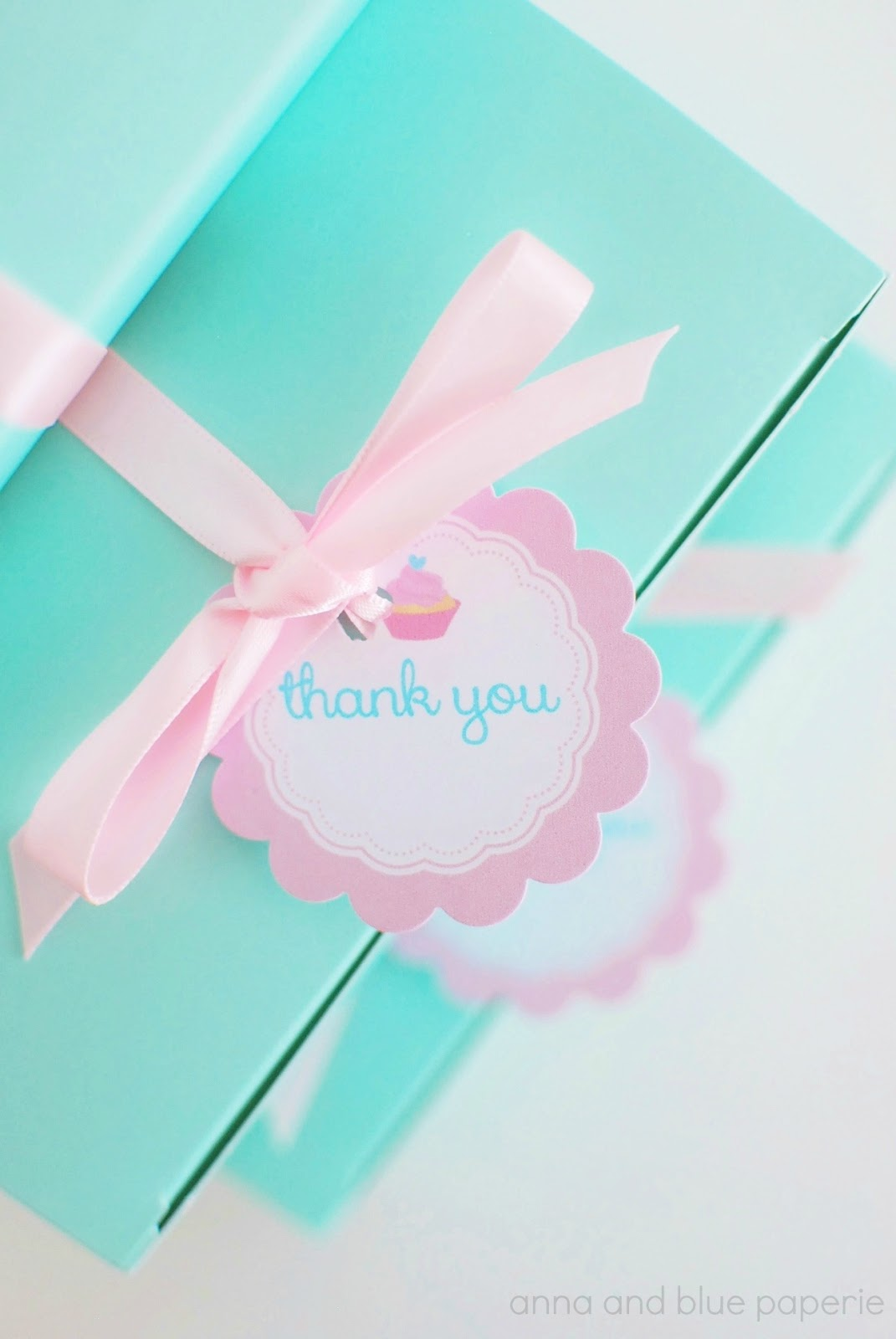 Anna And Blue Paperie Pink And Aqua Cupcake Theme Party