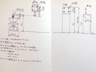 モーター取付の図