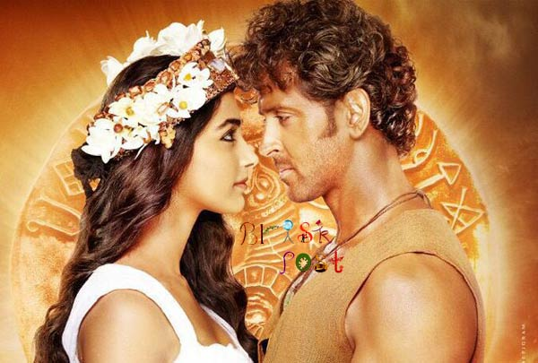 Hrithik Pooka close up romance scene if Mohenjo Daro