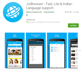 install Jio Browser