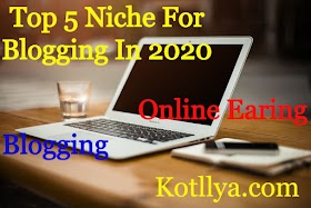 Top 5 Niche For Blogging in 2020-Kotllya.com