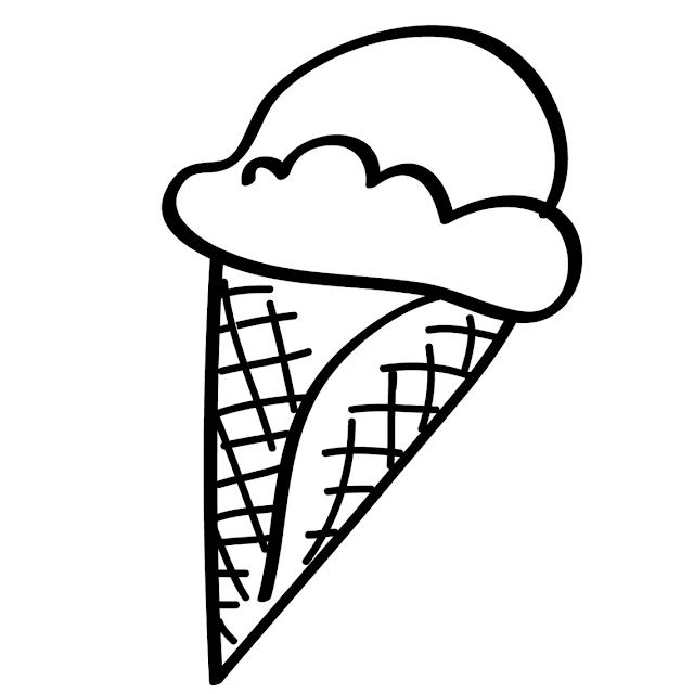 coloriage cornet de glace simple