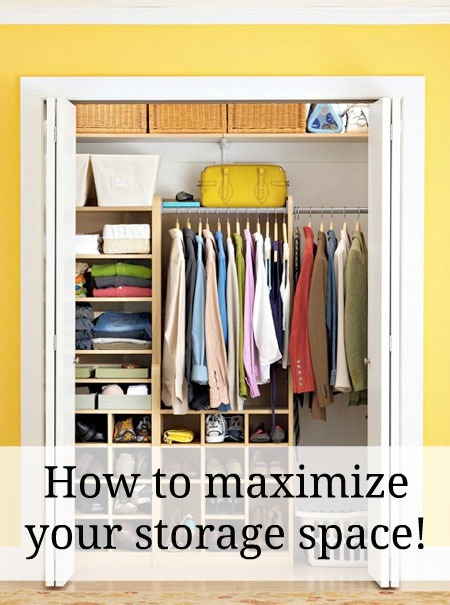 How to maximize your storage space great tips from a for How to maximize space in a small room
