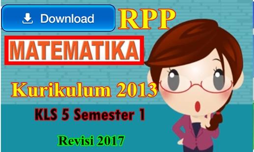 Download Rpp Matematika Kelas 5 Semester I Kk 2013 Revisi