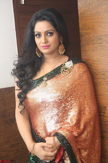 Udaya Bhanu lookssizzling in a Saree Choli at Gautam Nanda music launchi ~ Exclusive Celebrities Galleries 076.JPG