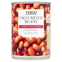 Tesco tinned mixed bean in spicy tomato sauce
