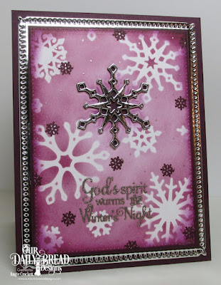 ODBD Snowflake Sentiments, ODBD Custom Snowflake Sky Dies, ODBD Custom Snow Crystals Dies, ODBD Custom Pierced Rectangles Dies, Card Designer Angie Crockett