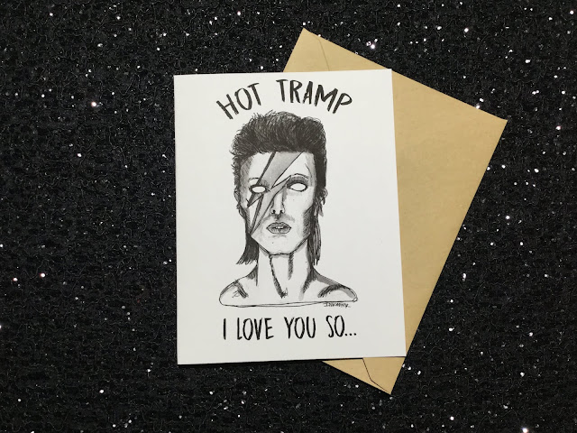 HAPPY BIRTHDAY DAVID BOWIE! - NEW CARD IN SHOP