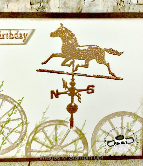 Card, Country Road, Weathervane, Wagon Wheel, Rustic