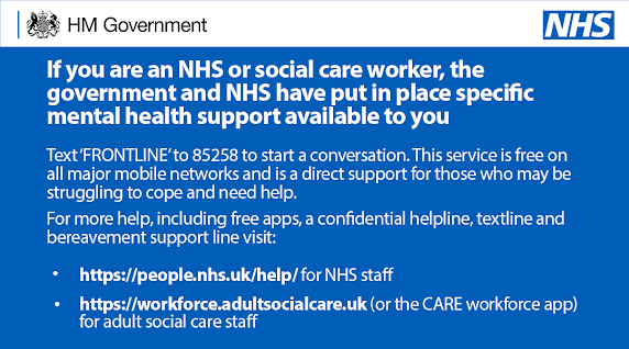 Mental health UK NHS workers help