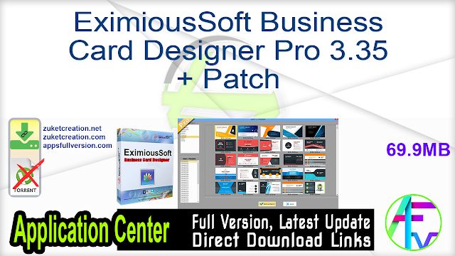 EximiousSoft Business Card Designer Pro 3.35 + Patch