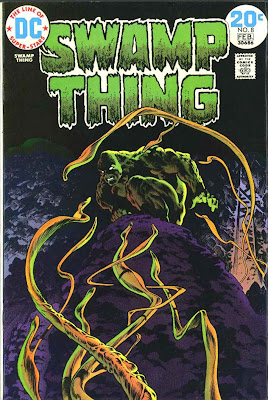 Swamp Thing v1 #8 1970s bronze age dc comic book cover art by Bernie Wrightson