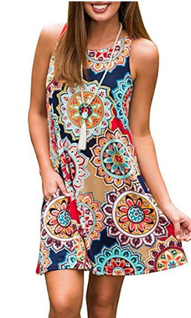 boho cute summer dress with pockets