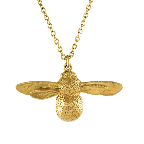 Alex Monroe's jewellery is instantly recogniseable and the what piece could be more notorious than the bee. The little baby bee is a smaller more affordable than the original piece which makes it the perfect piece to start your collection with.