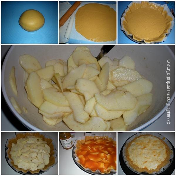 Crostata di mele (frolla-sfoglia) con confettura di albicocche