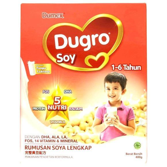 Susu dugro soy 1 hingga 6 tahun