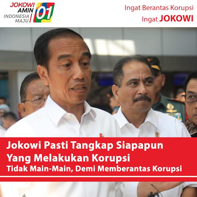 Keseriusan Jokowi Berantas Korupsi Tak Pandang Bulu