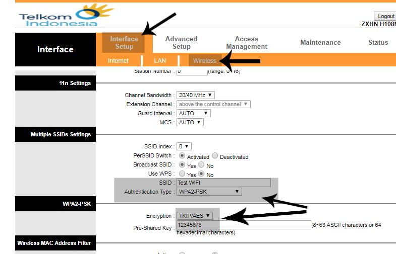 Modem Indihome Zte Zxhn H108n Menjadi Access Point Yogiadi Web Id