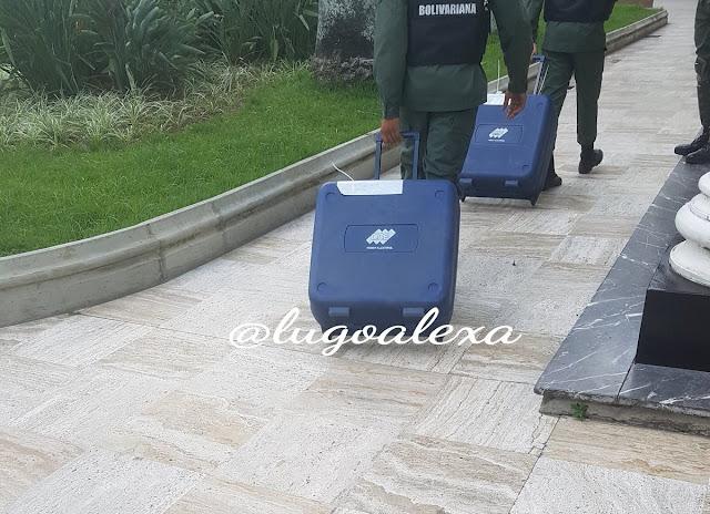 GNB ingresó cajas identificadas con el CNE dentro de la Asamblea Nacional