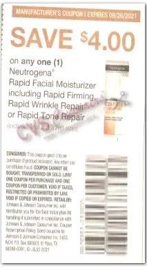 "USE $4.00/1 Neutrogena Rapid Facial Moisturizer Coupon from ""SMARTSOURCE"" insert week of 8/15/21."