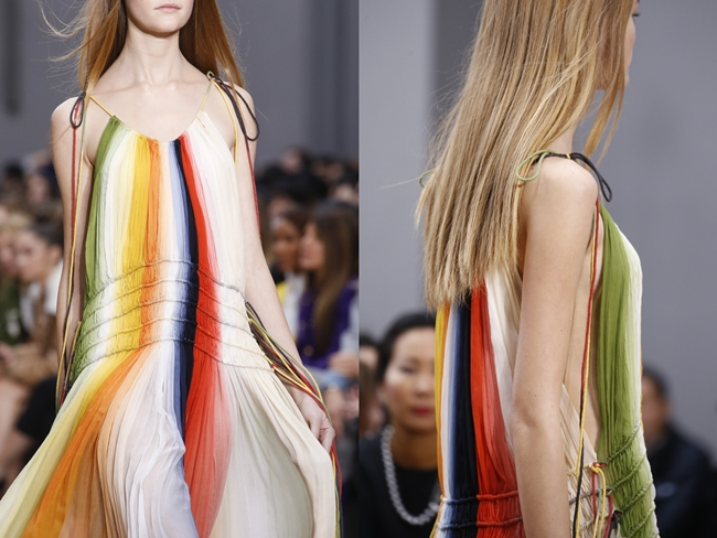 2016 SS Chloé Rainbow Dress on Runway