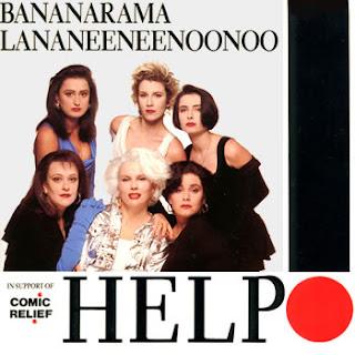 videos-musicales-de-los-90-bananarama-help-portada-disco-comic-relief-Lananeeneenoonoo