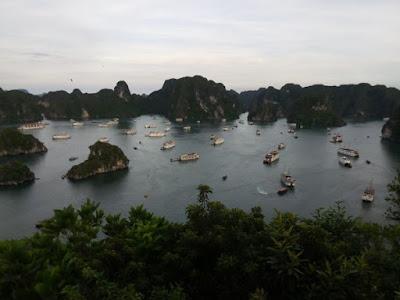 Isla Titop, en la Bahía de Halong