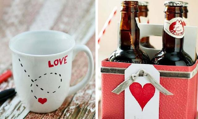 Dia dos namorados 2019 opções de presente personalizados para o seu amor. Caneca para café e caixa com as cervejas preferidas dele