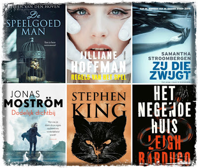 Heleen van den Hoven, Jilliane Hoffman, Samantha Stroombergen, Jonas Moström, Stephen King, Leigh Bardugo