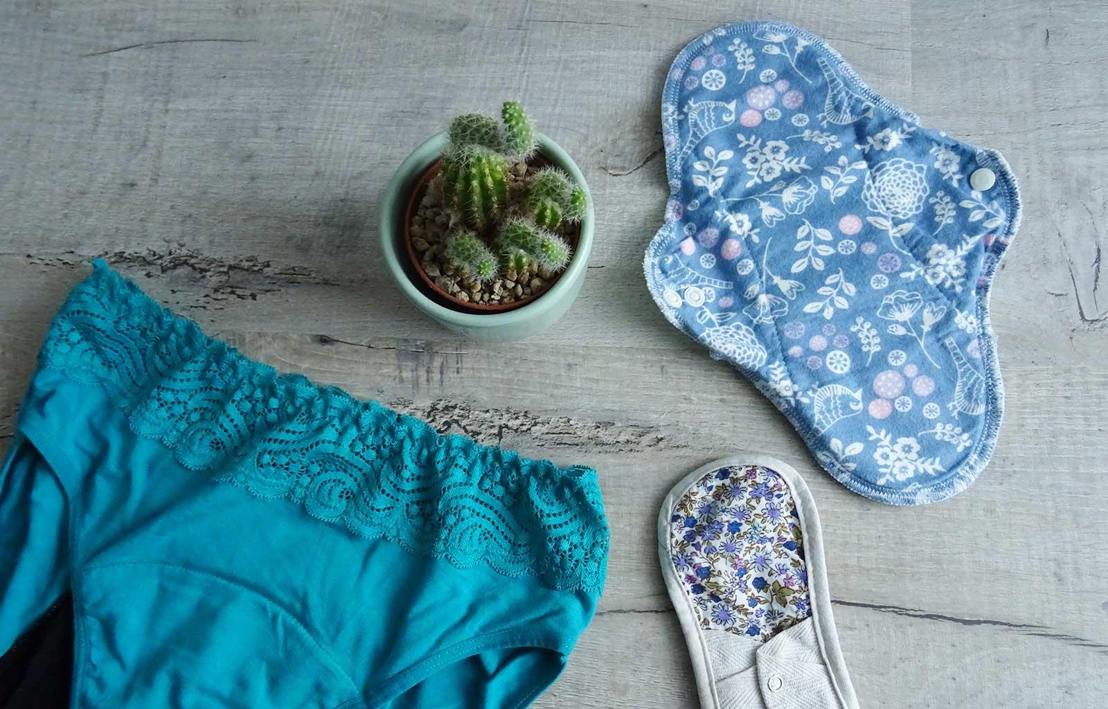 règles zéro déchets culottes menstruelles serviettes lavables
